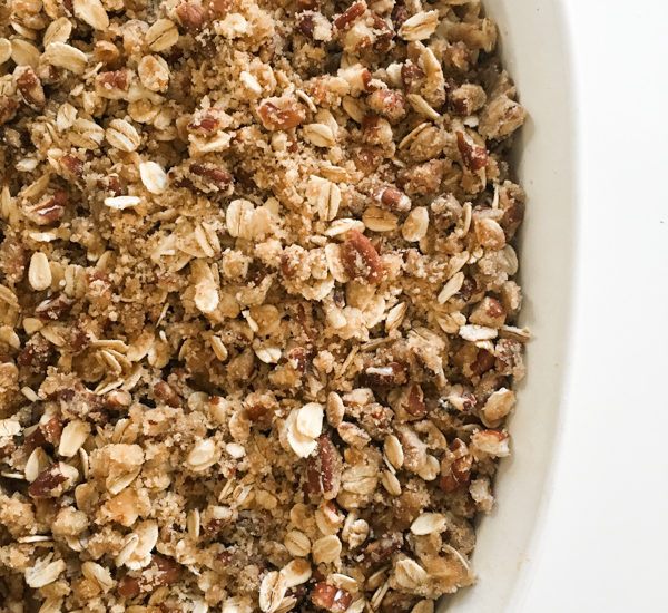 Sweet Potato Casserole with Oatmeal Streusel Topping