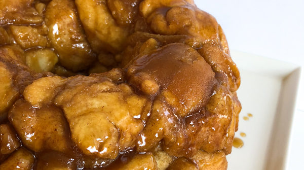 Monkey Bread on Cake Plate