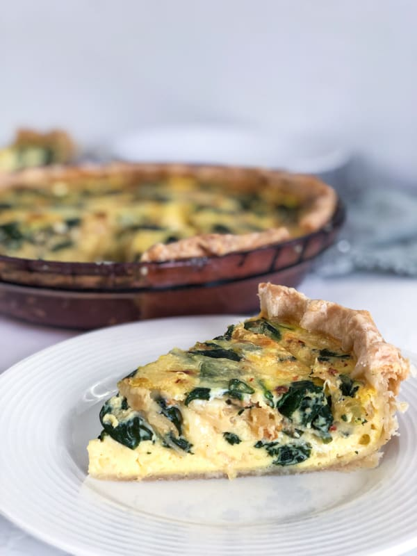 Caramelized Onion Spinach Quiche Fueling A Southern Soul